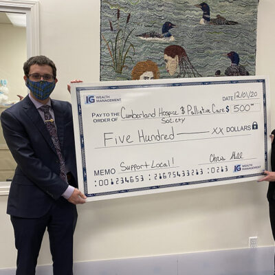 ChrisHill, Consultant IG Investments donation